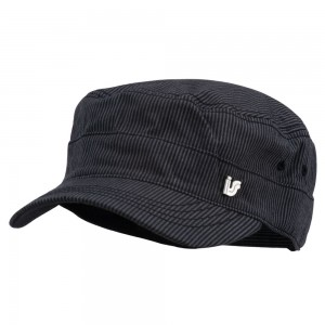 Cadet - Black Men's Pinstripe Fidel Cap | Coupon Free | e4Hats.com