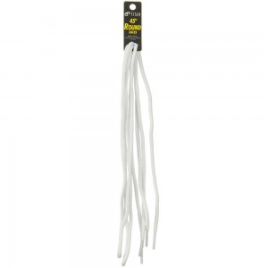 Chain - White Round Shoe Laces 45 Inches | Coupon Free | e4Hats.com