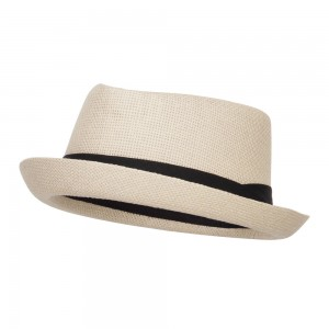 Fedora - Tan Solid Upbrim Pork Pie Fedora | Coupon Free | e4Hats.com