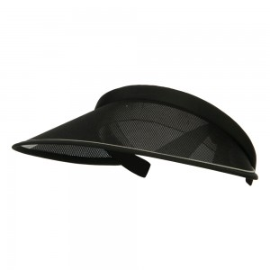 Visor - Black UV 50+ Protection Clip On Visor | Coupon Free | e4Hats.com