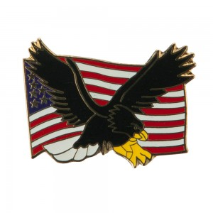 Pin , Badge - Black USA Flag Cloisonne Military Pins | Coupon Free | e4Hats.com