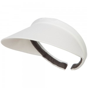 Visor - White Cotton Clip On 4 Inch Bill Visor | Coupon Free | e4Hats.com