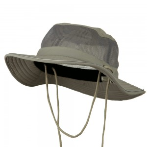 Outdoor - Grey Big Size Talson UV Mesh Bucket | Coupon Free | e4Hats.com