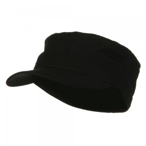 Cadet - Black Big Size Cotton Fitted Cap