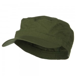 Cadet - Olive Big Size Cotton Ripstop Army Cap | Coupon Free | e4Hats.com