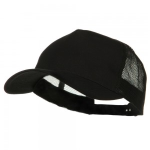 Ball Cap - Black Big Size Trucker Mesh Cap | Coupon Free | e4Hats.com