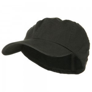 Ball Cap - Charcoal Cotton Twill Big Size Fitted Cap | Coupon Free | e4Hats.com