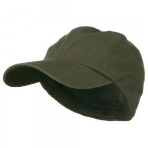 Ball Cap - Olive Cotton Twill Big Size Fitted Cap | Coupon Free | e4Hats.com
