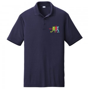 Graphic Shirt - True Navy 4 shades of Football Graphic Design PosiCharge Competitor Polo Tee Shirt | Coupon Free | e4Hats.com