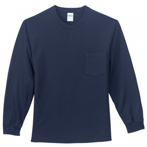 Shirt - Navy Men's Big Size Tall Sleeve Pocket Shirt | Coupon Free | e4Hats.com