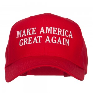 Embroidered Cap - Red Make America Great Again Cap | Coupon Free | e4Hats.com
