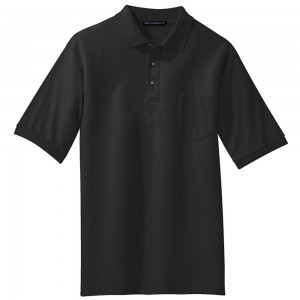 Shirt - Black Men's Big Size Pocket Polo T-Shirt | Coupon Free | e4Hats.com