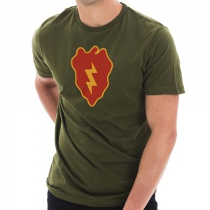 Graphic Shirt - Army Green Army 25th Infantry Graphic T-Shirt | Coupon Free | e4Hats.com