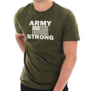 Graphic Shirt - Army Green Army Strong Graphic Design T-Shirt | Coupon Free | e4Hats.com