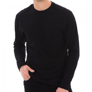 Shirt - Black Unisex Lane Seven Cotton Long T-shirt | Coupon Free | e4Hats.com