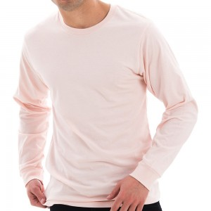 Shirt - Pale Pink Unisex Lane Seven Cotton Long T-shirt | Coupon Free | e4Hats.com