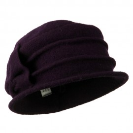 2 Pleat Detailed Boiled Wool Bucket Hat