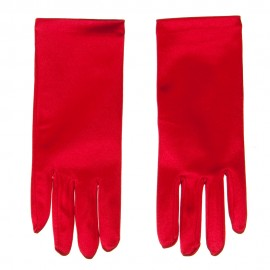 Satin 2BL Glove - Red