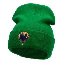 Hot Air Balloon Trip Embroidered 12 Inch Solid Long Beanie Made in USA