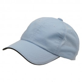 6 Panel Athletic Mesh Cap-Blue