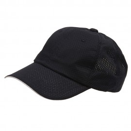 6 Panel Athletic Mesh Cap-Navy