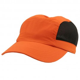 UV 50+ Protection Casual Outdoor Cap - Orange Black