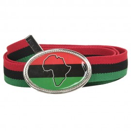 Rasta Big Buckle Belt