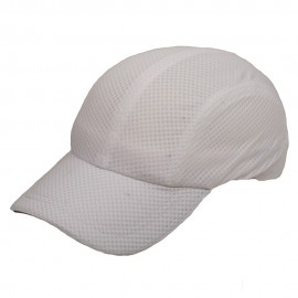 4 Panel Athletic Mesh Cap-White