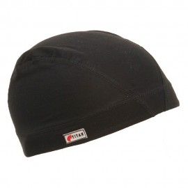 Cotton Spandex Dome Cap-Black