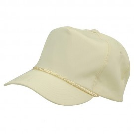 Cotton Twill Golf Cap - Beige