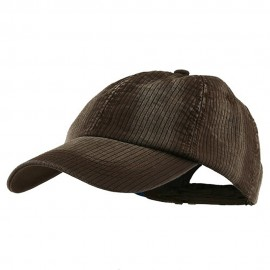 Low Profile Pine Stripe Cotton Washed Cap - Brown