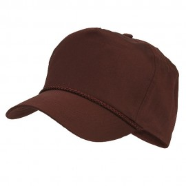 Cotton Twill Golf Cap - Maroon