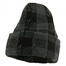 Buffalo Plaid Cuff Beanie Hat