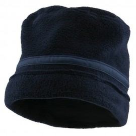 Banded Fleece Winter Cap-Navy