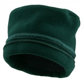 Banded Fleece Winter Cap-Dark Green