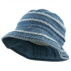 Youth Denim Stripe Bucket Hat-Light Blue