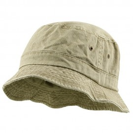 Big Size Washed Hat - Khaki