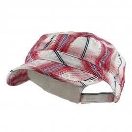 Twill Fashion Engineer Cap-Red