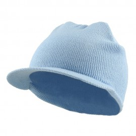 Cuffless Beanie Sports Visor-Powder