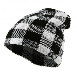 Buffalo Plaid Short Beanie