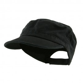 Enzyme Regular Solid Army Caps-Black