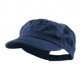 Enzyme Regular Solid Army Caps-Navy