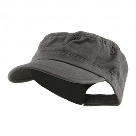 Enzyme Regular Solid Army Caps-Grey