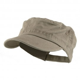 Enzyme Regular Solid Army Caps-Khaki