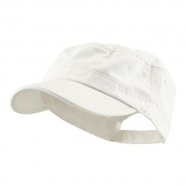 Enzyme Regular Solid Army Caps-White