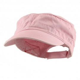 Enzyme Frayed Solid Army Caps-Pink