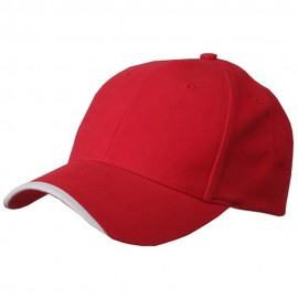 Deluxe Brushed Cotton Twill Cap-Red White