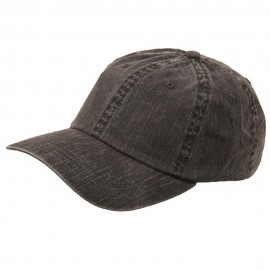 Pigment Dyed Special Cotton Cap-Black