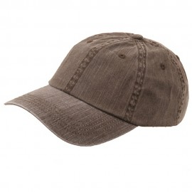 Pigment Dyed Special Cotton Cap-Brown
