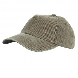Corduroy Cotton Washed Cap-Brown